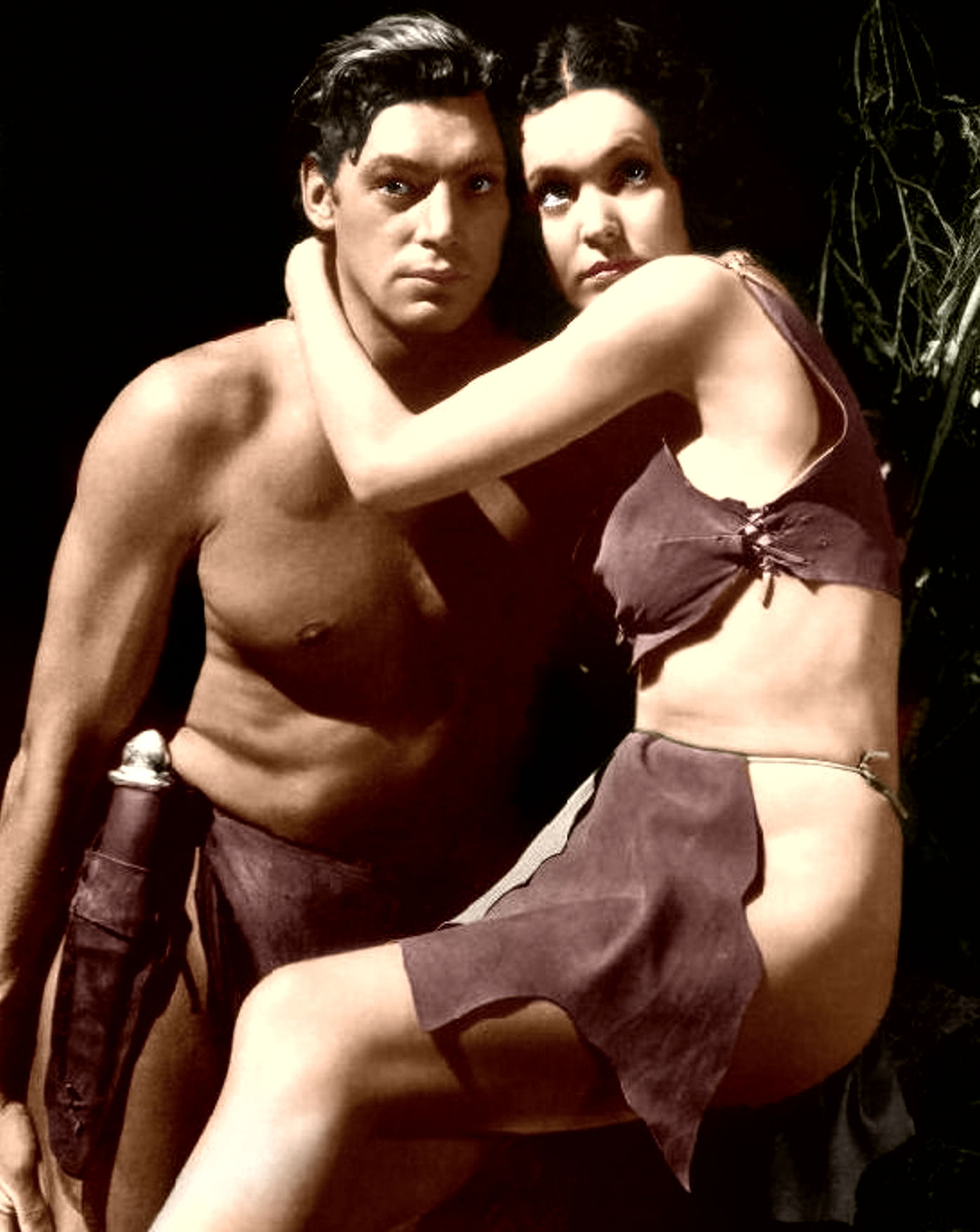Johnny Weissmüller and Maureen O'Sullivan 1934