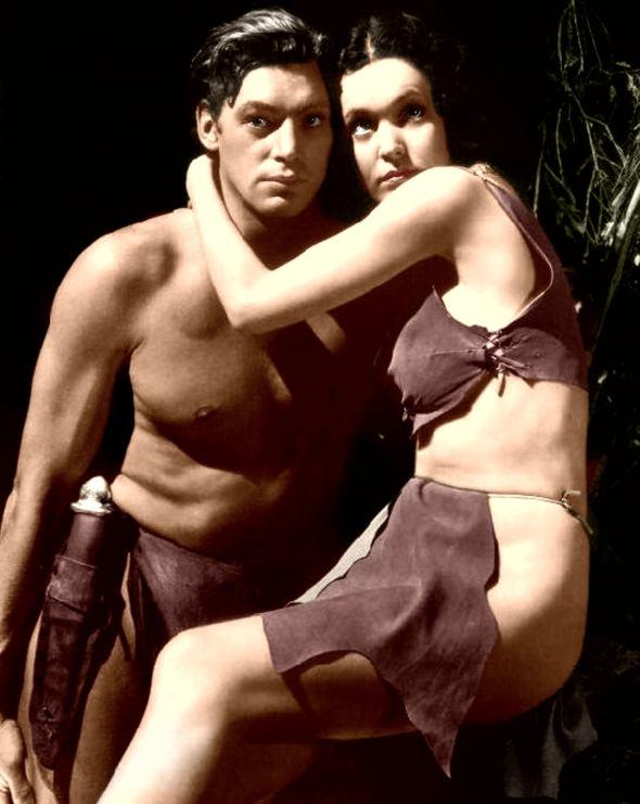Johnny Weissmüller and Maureen O'Sullivan 1934