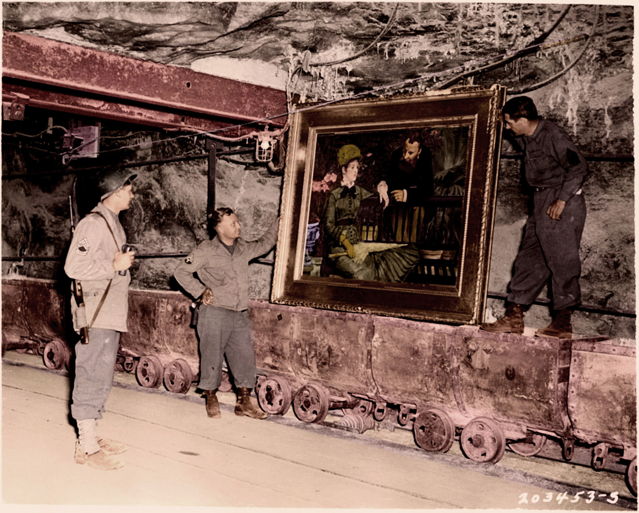 A painting by the french impressionist Edouard Manet, titled Wintergarden, discovered in the vault at Merkers. 42545