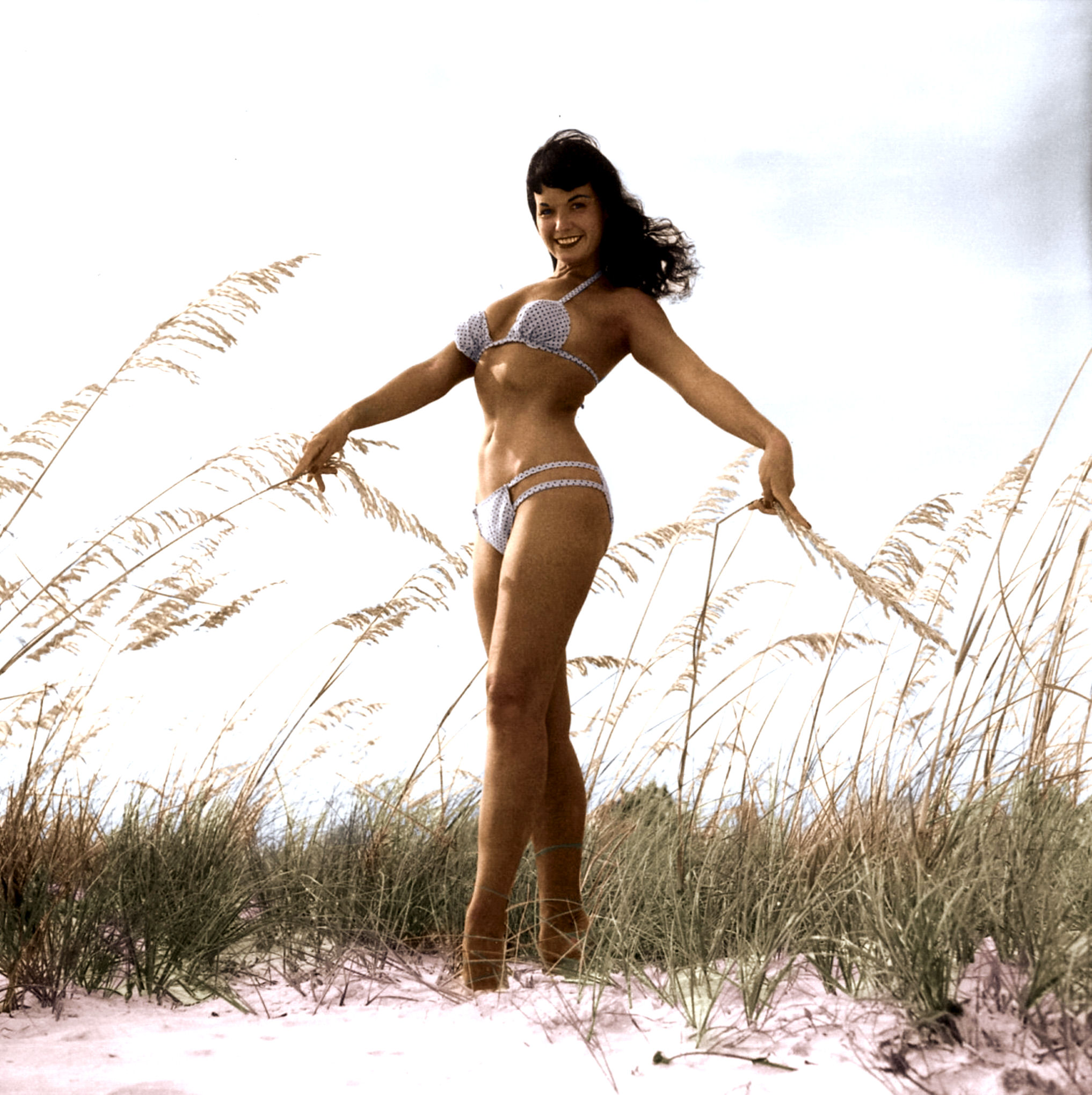 Betty Page Photos: Bettie Page At The Beach