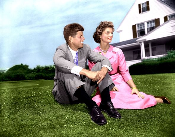 John F. Kennedy and Jacqueline Bouvier  June 27, 1953.