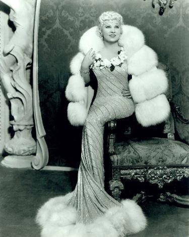 1930's Mae West a mermaid in fur