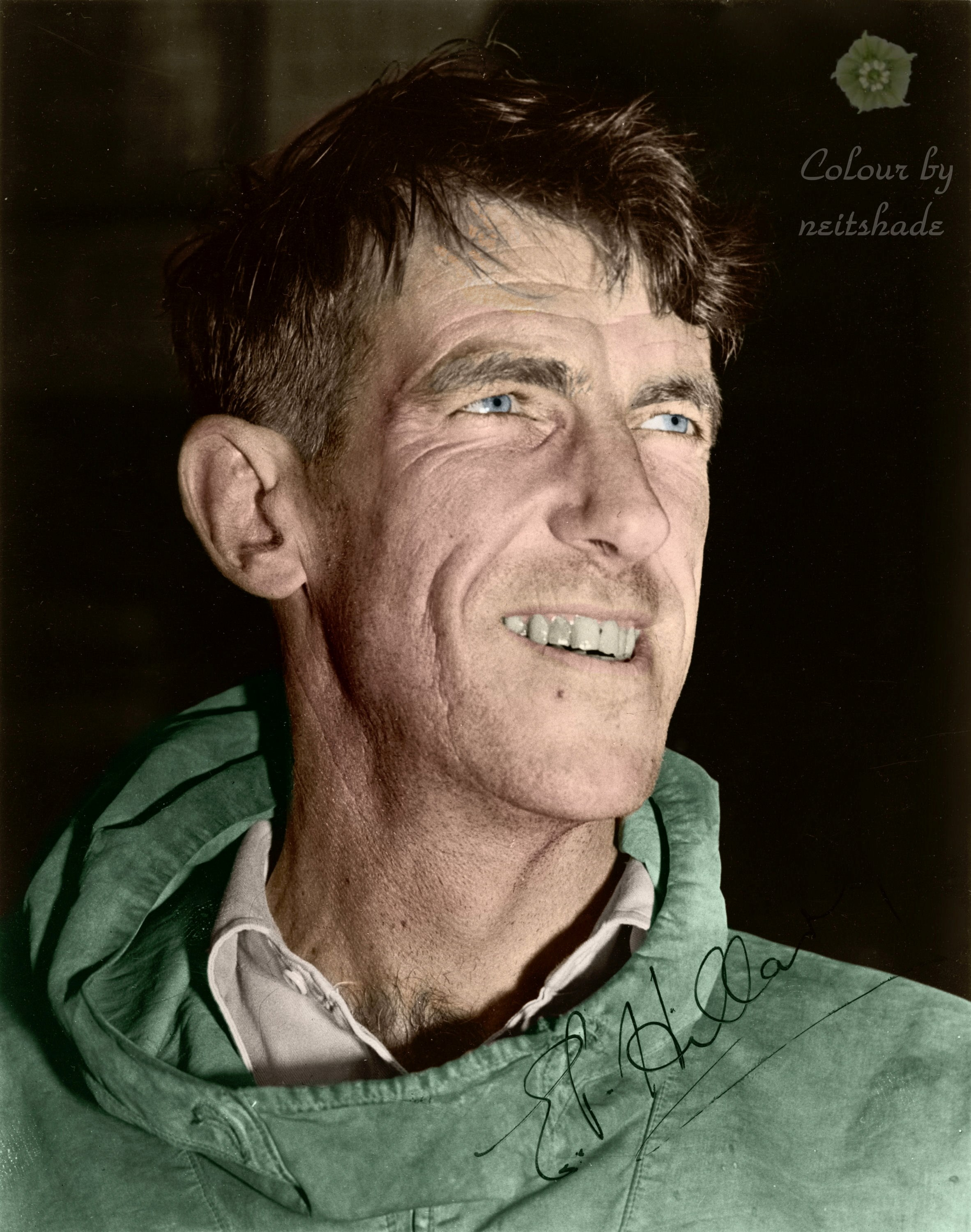 Edmund_Hillary,_c._1953,_with_autograph