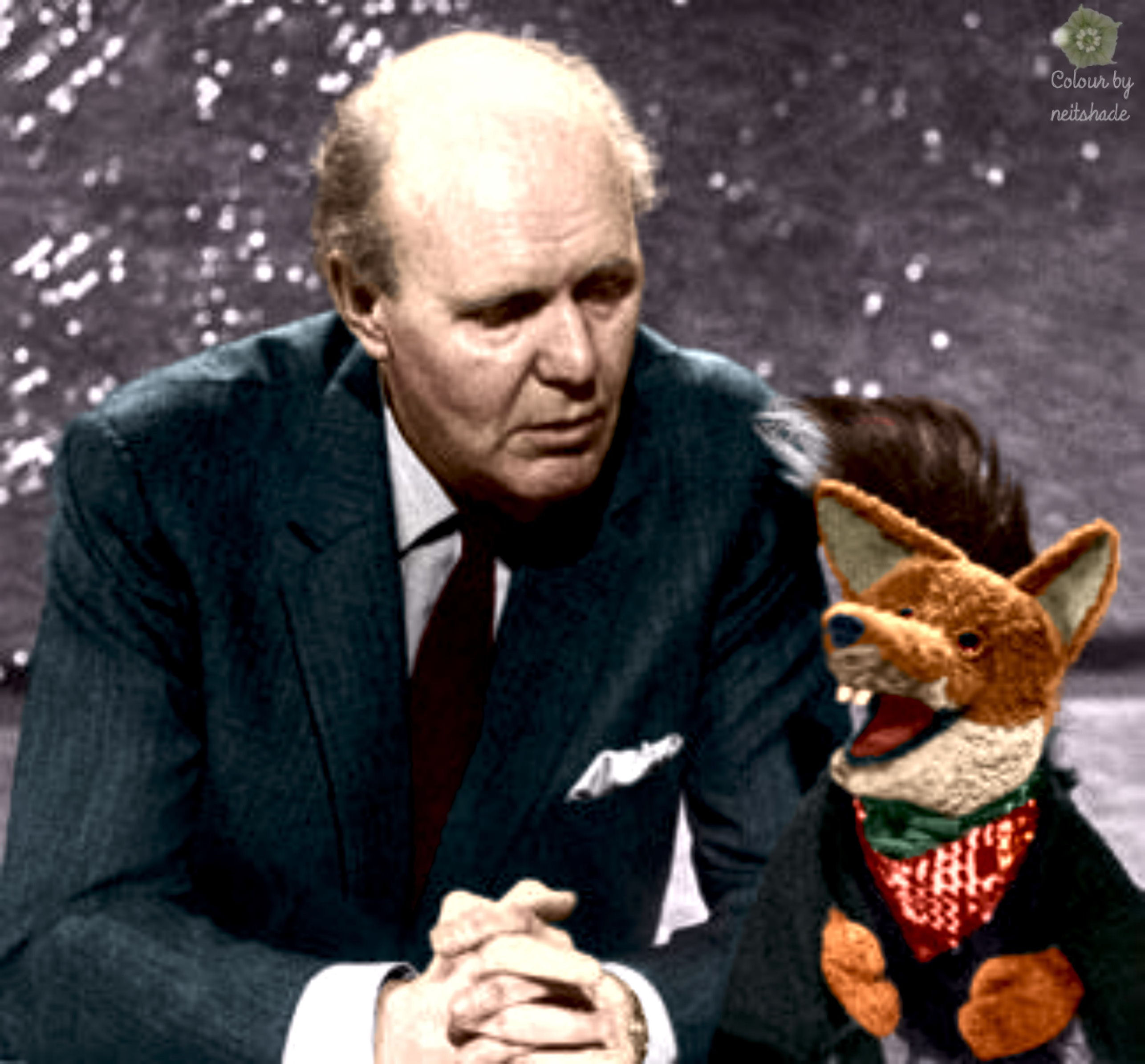 David Nixon and Basil Brush