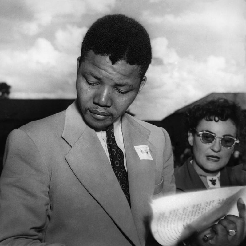 Nelson Mandela and Ruth First, Defiance Campaign, 1952