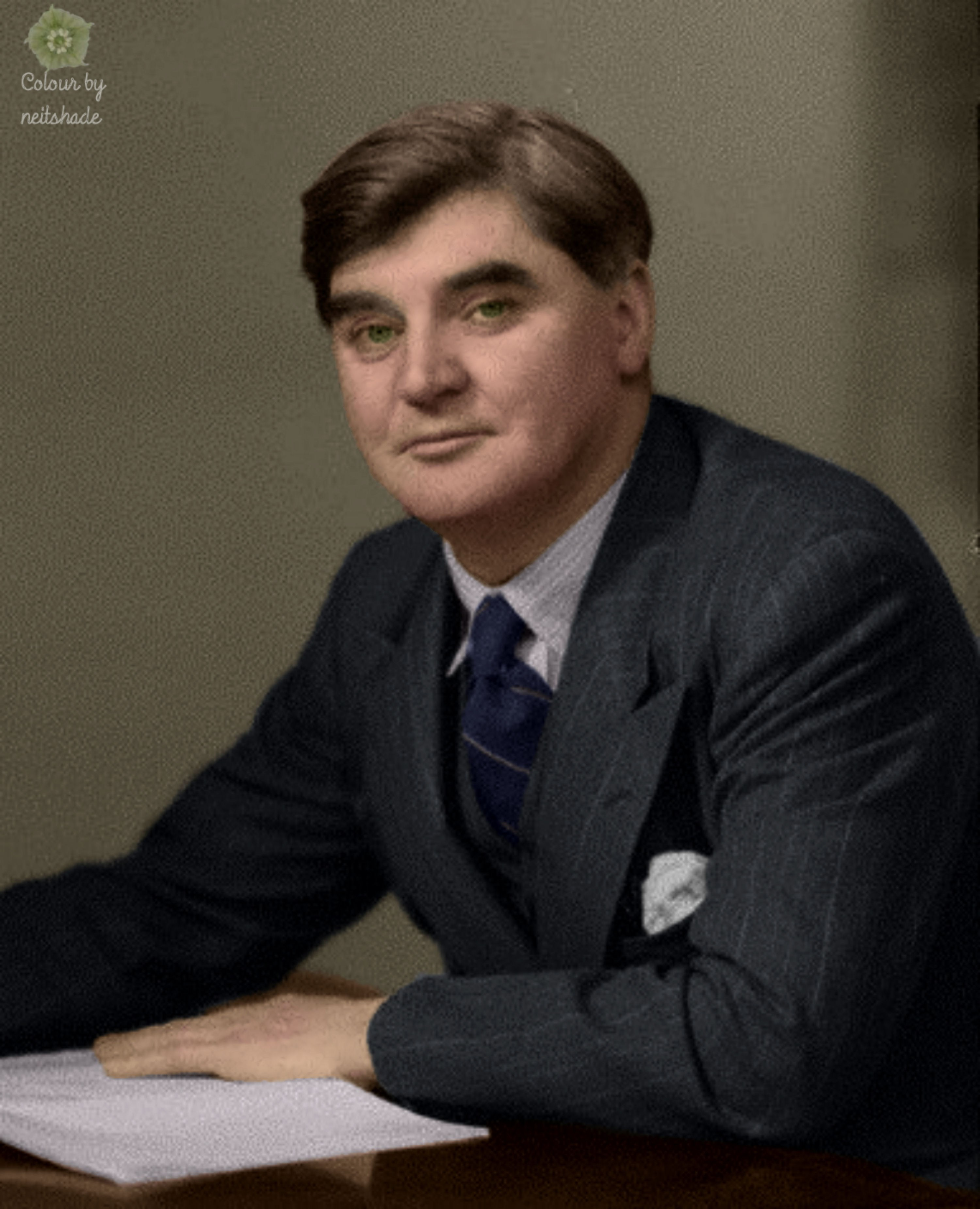 Aneurin u201cNyeu201d Bevan, around 1945, at which time he was preparing ...