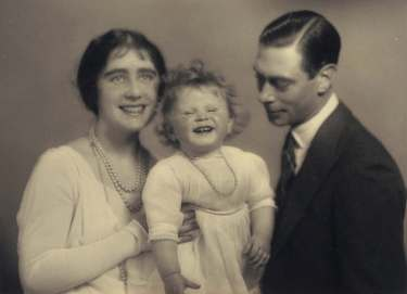 Elizabeth II with parents