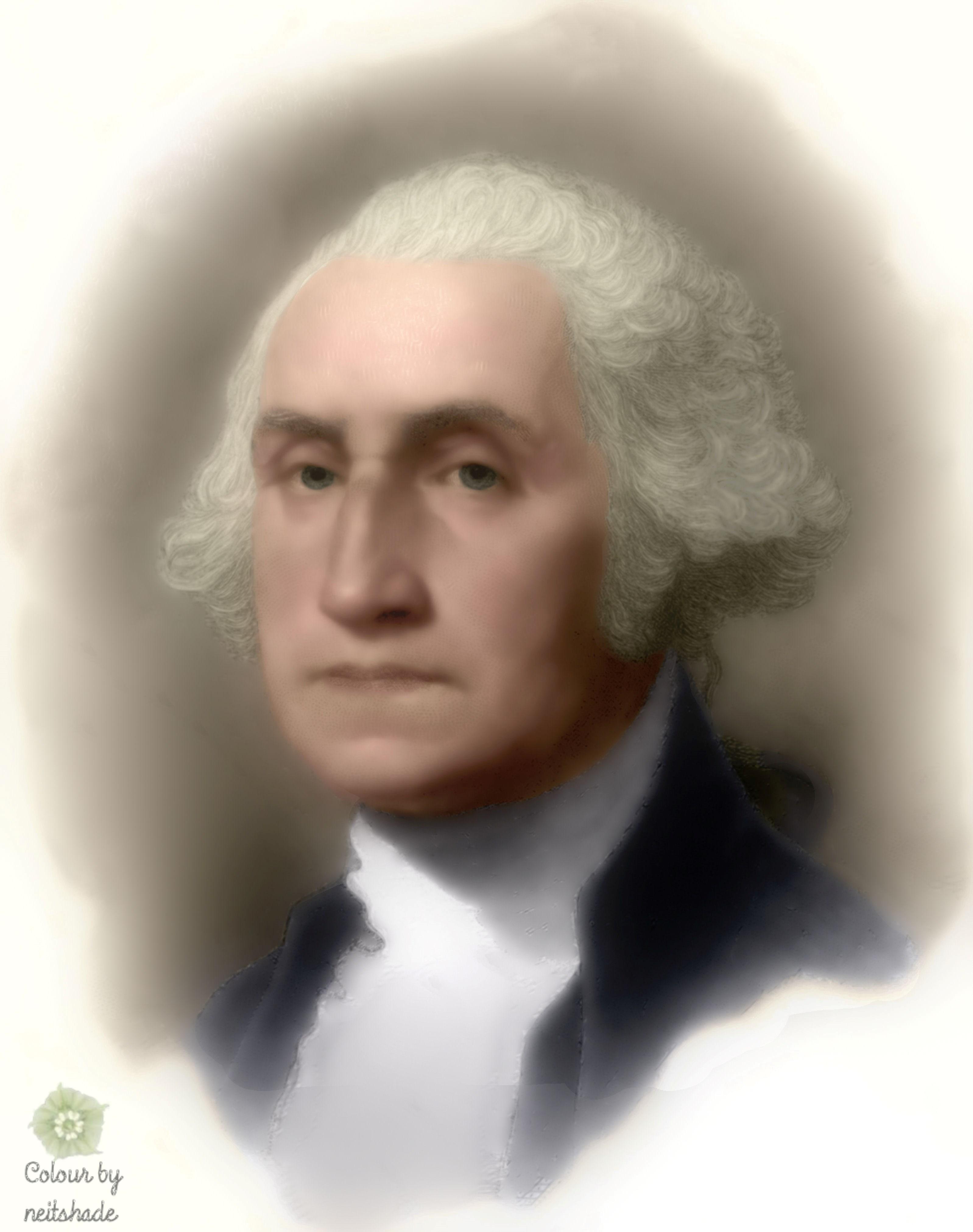 1789 George Washington George Washington Bust Portrait Engraving After Gilbert Stuart