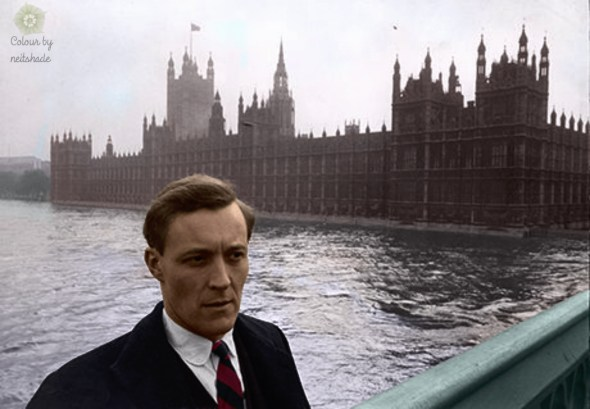 Tony-Benn-outside-parliament 1961