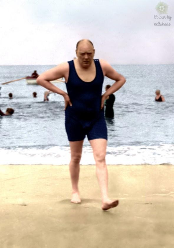 Winston Churchill in a swimsuit… 1922
