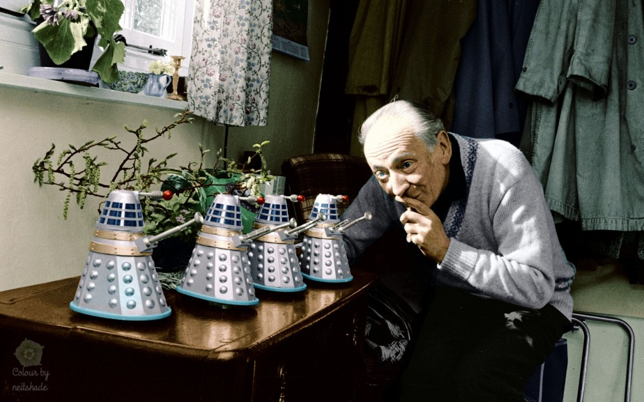 Hartnell and Daleks