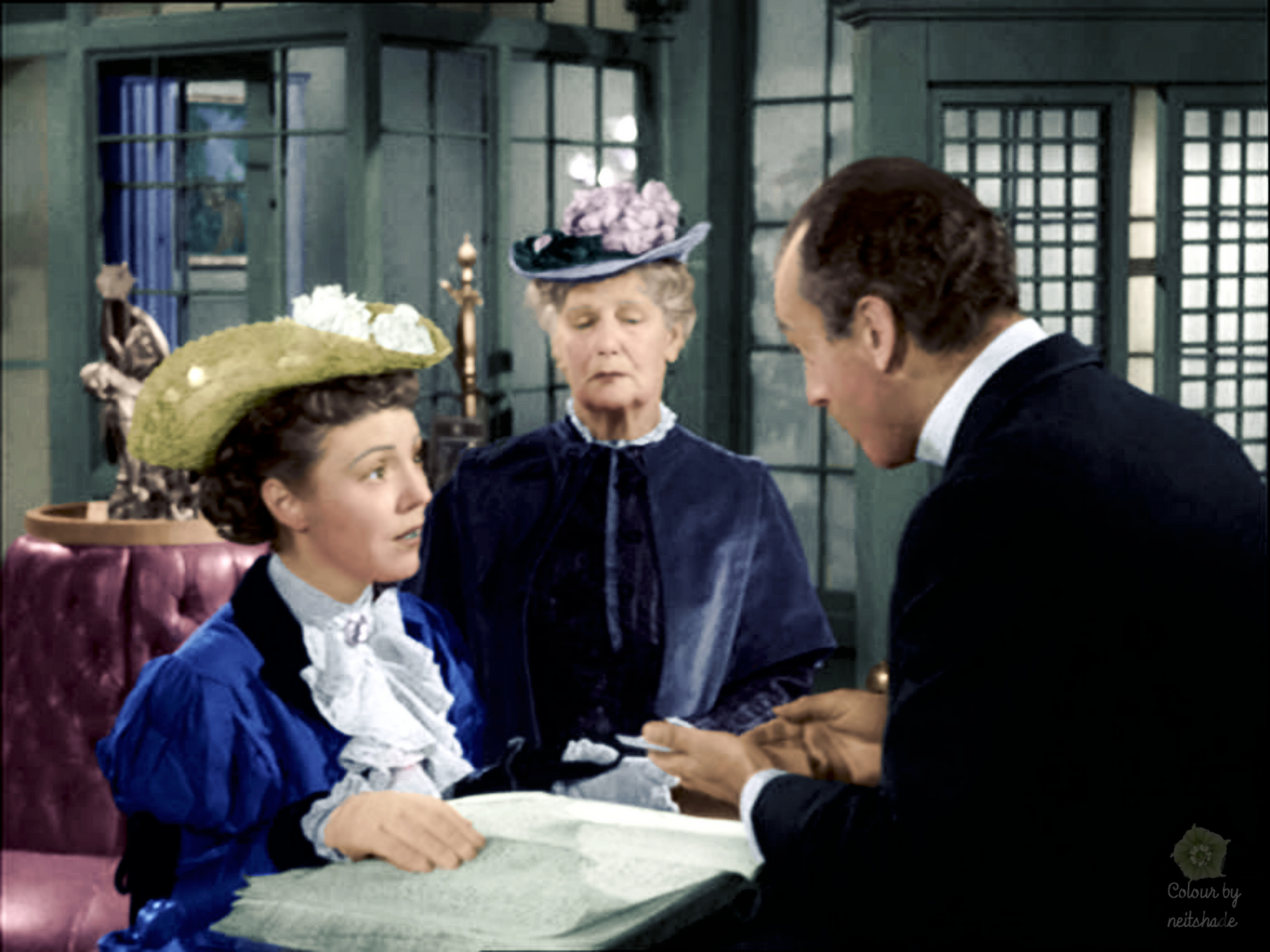 "Patricia Hitchcock, Mary Forbes and Maurice Marsac in the Alfred Hitchcock Presents TV series ""Into Thin Air"" episode (1955)"
