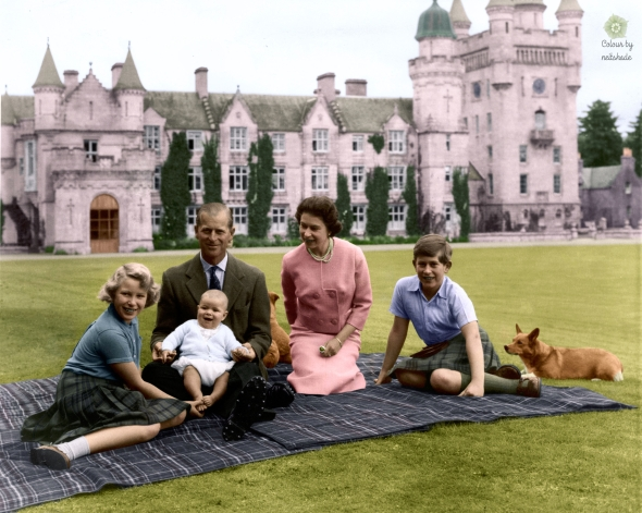 Balmoral Castle and Royal Family 1960