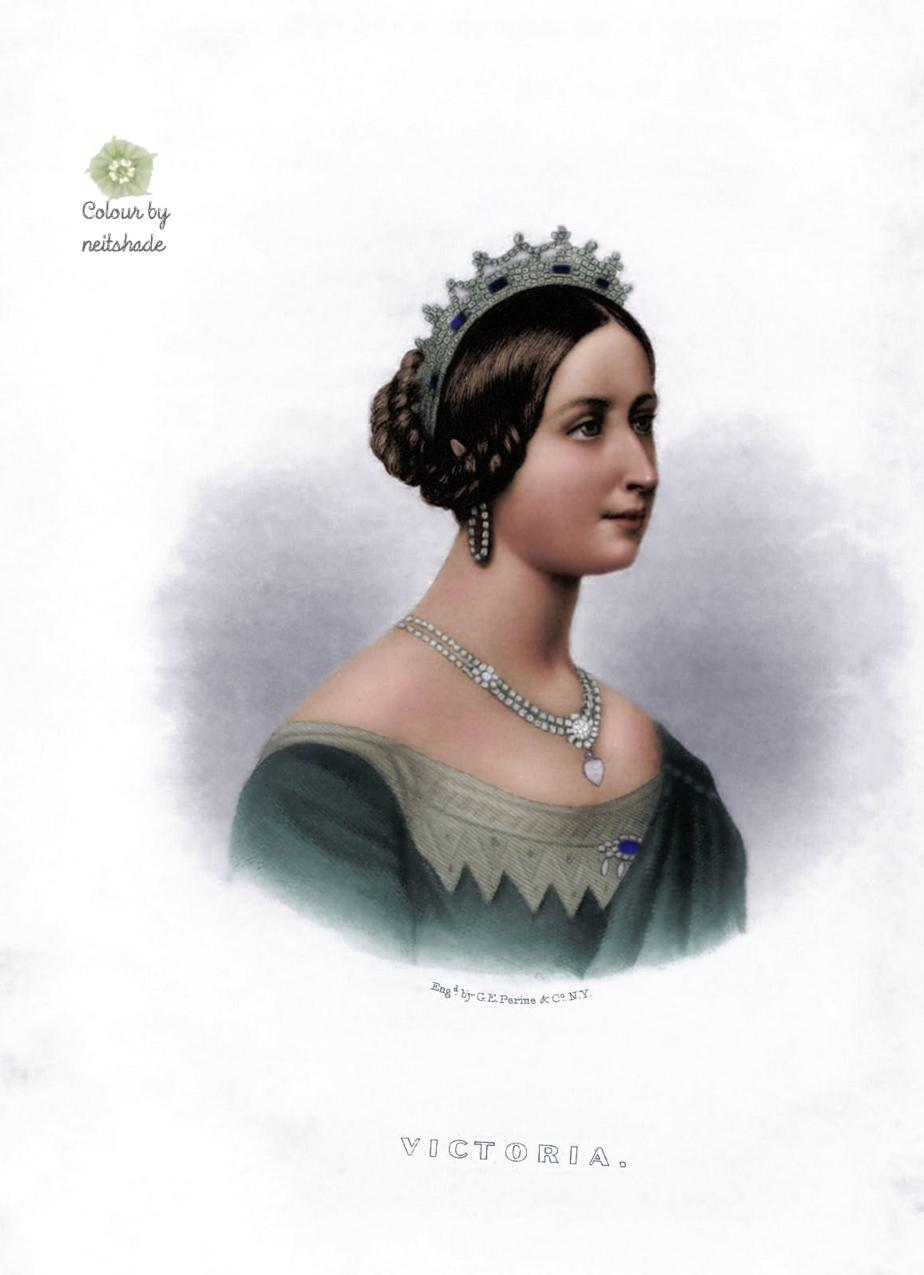 queen victoria engraving