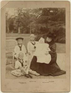 by Hughes & Mullins, albumen panel card, 1900