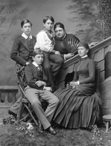 Queen_Mary_with_her_mother_and_brothers_by_Alexander_Bassano