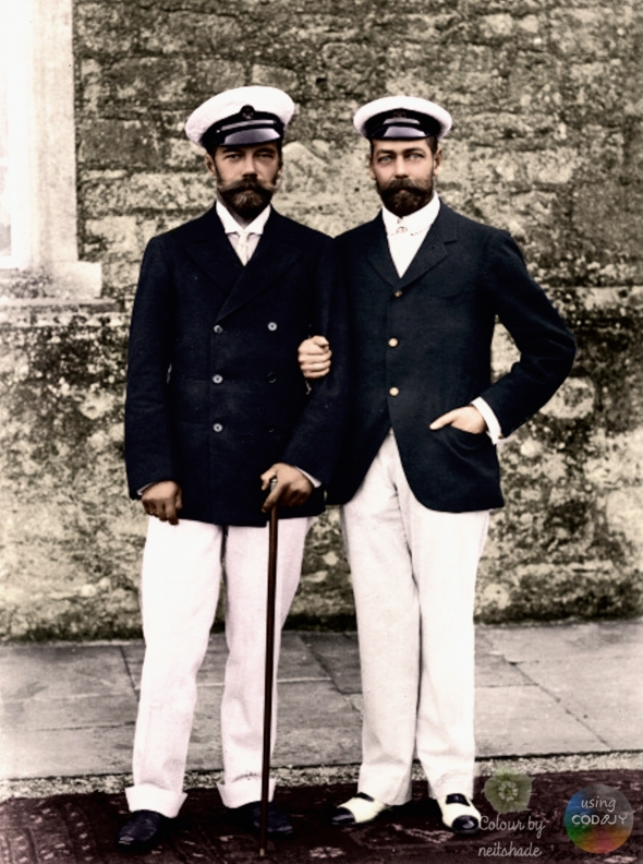 Tsar Nicholas II of Russia and King George V